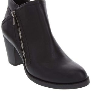 NW - Black booties with silver side zipper